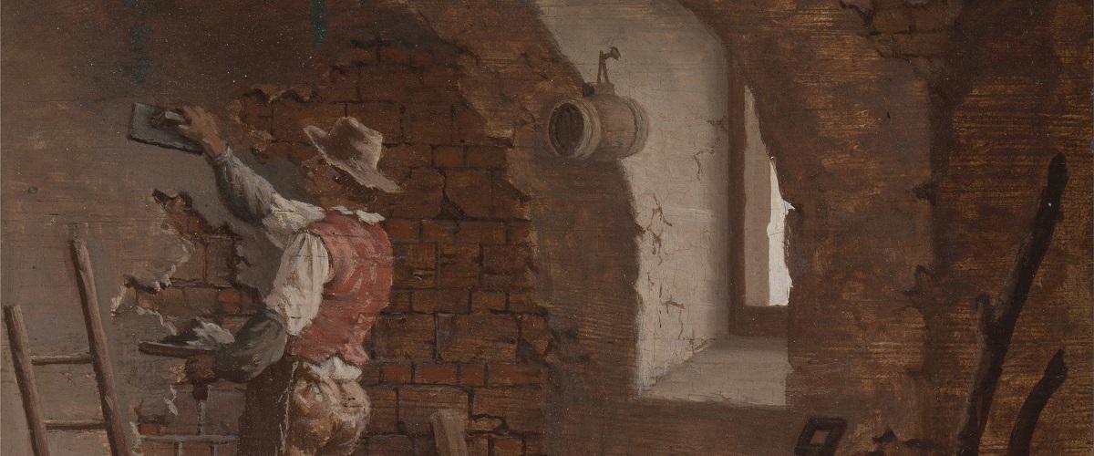 """Obraz malarza Johna Cranch'a pod tytułem """"Tynkarz"""""""
